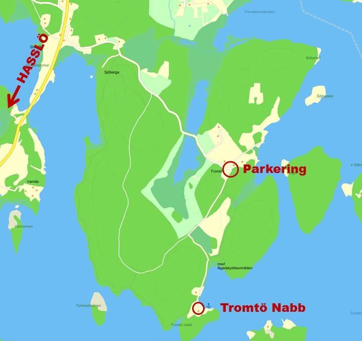 karta till Tromtö